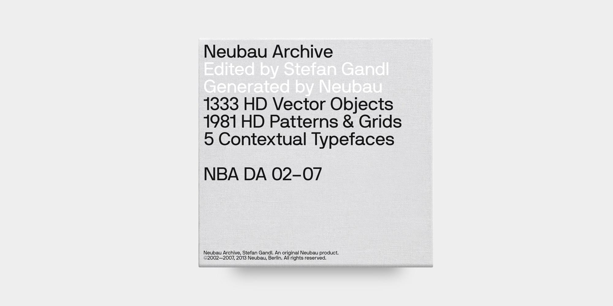 NBL — Neubau Archive